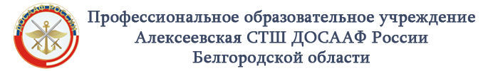 Профессиональное образовательное учреждение Алексеевская СТШ ДОСААФ России Белгородской области Logo